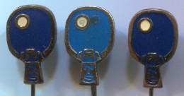 Table Tennis / Tenis Di Tavolo / Ping Pong - Club NIS Serbia, Vintage Pin Badge, Enamel 3 Pieces - Table Tennis
