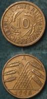 M_p> Germania Repubblica Di Weimar 10 Rentenpfenning 1928 A - [ 3] 1918-1933 : Repubblica Di Weimar