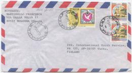1985 ESPO L. 500 VARIETÀ DENTELLATURA ORIZZ. SPOSTATA IN BASSO + CASTELLI 12.2.97 PER FINLANDIA OTTIMA QUALITÀ (6729) - 6. 1946-.. Repubblica