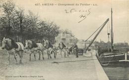 AMIENS CHARGEMENT DU FARDIER  ATTELAGE CHEVAUX ET PENICHE - Amiens