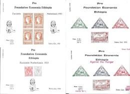 ETHIOPIA,  PRO FOUNDATION ECONOMIA   8 SHEETS MNH - Ethiopie