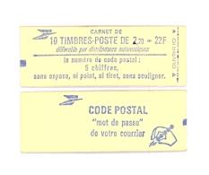 """CARNET 2376-C 1 Liberté De Delacroix """"CODE POSTAL"""" Avec R.E. Fermé Parfait état Bas Prix - Usage Courant"""