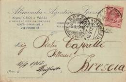 (C).Spezia.Cartolina Commerciale Pubblicitaria.Viaggiata Il 15 Set 1912 (85-a16) - La Spezia