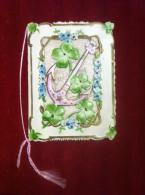 Glückwunschkarte Zum Namenstage Mit Ankermotiv Ca. 1920 Dekorativ Mit Spruch - Mitteilung