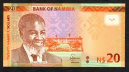 NAMIBIA  :  20  Dollars  - 2015 - UNC - Namibia
