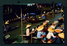 THAILAND  -  Rajburi  Damnernsaduak Floating Market  Used Postcard As Scans - Thailand