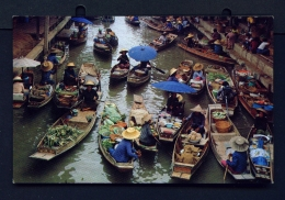 THAILAND  -  Rajburi  Damnernsaduak Floating Market  Unused Postcard - Thailand