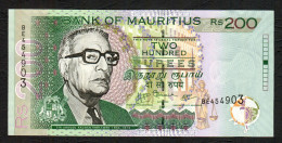 MAURITIUS  : 200  Rupees- 2007 - UNC - Mauritius
