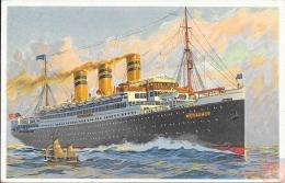 USA - Carte Postale PAQUEBOT - RELIANCE - Posted At Sea 1922 - UNITED STATES SEA. P.O. - Paquebots