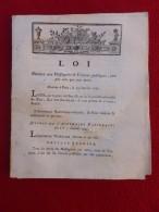 LOI RELATIVE AU MESSAGERIES ET VOITURES PUBLIQUES TANT PAR EAU QUE PAR MER 1791 - Decretos & Leyes
