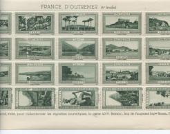"""FEUILLE  N° 4  DE  20  VIGNETTES **  """"  FRANCE  D´ OUTREMER  """"  (  2 SCANS  )   VOIR DESCRIPTION - Tourisme (Vignettes)"""