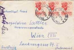 JUGOSLAWIEN - 3 Fach Frankierung Auf Brief - Briefe U. Dokumente