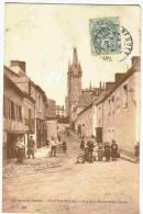 1907 CHATEAUBOURG - Vue Animée Peu Courante Rue De La Mairie Et Eglise - Unclassified