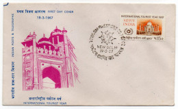 INDE--FDC--1967--International Tourist Year 1967--cachet NEW DELHI - FDC
