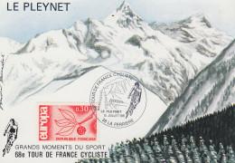 Carte  Etape  TOUR   De   FRANCE   Cycliste    LE  PLEYNET   1981 - Cyclisme