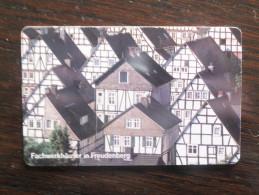 Germany, Deutschland, PD Serie, Telefonkarte, Phonecard, Fachwerkhäuser In Freudenberg, Schöne Landschaften, Used - Paysages