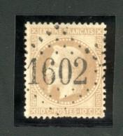 Gros Chiffres GC 1602 Sur N° 28 Y&T - Fuans  (Doubs) - Marcophilie (Timbres Détachés)
