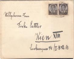 JUGOSLAWIEN 1943 - 2 Fach Frankierung Auf Trauernachricht - 1931-1941 Königreich Jugoslawien