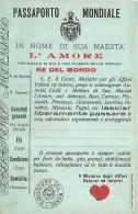 DIVERTENTE - UMORISTICA - PASSAPORTO MONDIALE IN NOME DI SUA MAESTA' L'AMORE - RE DEL MONDO. CARTOLINA D'EPOCA - San Valentino