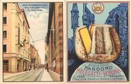 CARTOLINA - BIGLIETTO PUBBLICITARIO DEL PANDORO MELEGATTI DI VERONA. NON VIAGGIATA - CON LISTINI. INIZI '900 - Pubblicitari