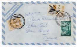 ARGENTINE--1965-BUENOS-AIRES Pour PARIS-France-Beaux Timbres Et Cachets Servicio Aeropostale-3°-B5-A5 - Argentinien