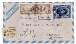 ARGENTINE--1967-Lettre Recommandée EZEIZA Pour PARIS-France-Beaux Timbres Et Cachets Au Recto Et Verso - Argentine