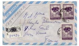 ARGENTINE--1967-Lettre Recommandée EZEIZA Pour PARIS-France-Beaux Timbres Et Cachets Au Recto - Argentinien