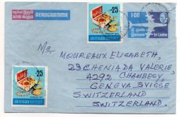 SRI LANKA--1978--Aérogramme De ALUTGAMA Pour Genève-Suisse- Timbres (bijoux) En Complément - Cachets - Sri Lanka (Ceylan) (1948-...)