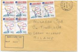 1998 FIERA DI PADOVA L. 800 QUARTINA + COPPIA BUSTA RACCOMANDATA 30.6.98 MULTIPLO PERFETTA TARIFFA (6774) - 6. 1946-.. Repubblica