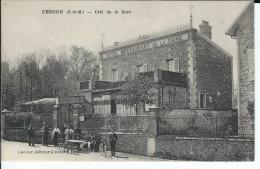77 - CESSON - T.Belle Vue Animée Du Café De La Gare ( Hôtel Restaurant ) - Cesson