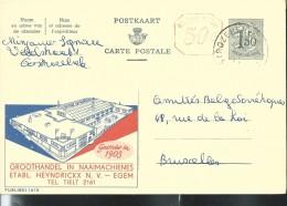 Publibel Obl. N° 1615M ( Etb. Heyndrickx - Egem) Obl: 29/05/1961 - Enteros Postales
