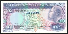 S. TOME E PRINCIPE : 1000 Dobras - 1989 - P62 UNC - San Tomé E Principe