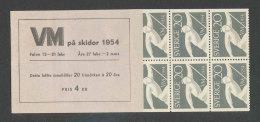 SUEDE 1954 - CARNET  YT C385a - Facit H105 - Neuf ** MNH - Championnats Du Monde De Ski - Booklets