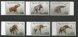 Nepal 2015, Mint NEPAL 2015 Prehistoric ELEPHANTS Series 6 Stamp SET., Mammal, Wildlife - Elephants