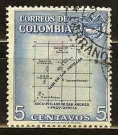 COLOMBIA 1956.03.05 [839-1] Departamentos De Colombia - Colombia