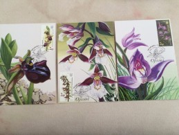 Ukraine Stamp Cover Orchid Flowers 2015 FDC - Ucrania