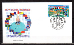 """NOUVELLE CALEDONIE 2010 : Enveloppe 1er Jour """" DRAPEAUX XIV èmes JEUX DU PACIFIQUE / NOUMEA Le 27-8-10 """". Parf état. FDC - Flags"""