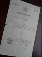 Stad ANTWERPEN Uittreksel Register Akte GEBOORTE Jaar 1911 23 Januari N° 457 Louisa Maria Constantia ( Zie Foto´s ) ! - Birth & Baptism