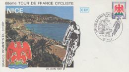 Enveloppe  Départ  Du  TOUR  DE  FRANCE   CYCLISTE   NICE   1981 - Radsport