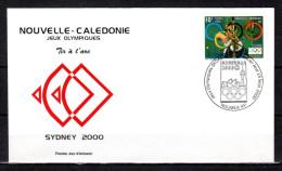"""NOUVELLE-CALEDONIE 2000 : Enveloppe 1er Jour """" JO SYDNEY 2000 / TRI ARC / NOUMEA 15-09-2000. """" N° YT 820. Parf état. FDC"""
