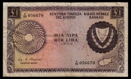 Cyprus 1 Pound 1972 F- - Chypre