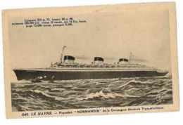 CPA BATEAUX PAQUEBOT NORMANDIE LE HAVRE - Dampfer