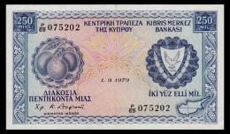 Cyprus 250 Mils 1979 XF+ - Cyprus