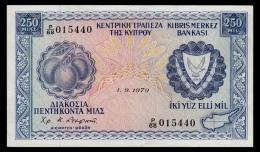 Cyprus 250 Mils 1979 XF - Chypre