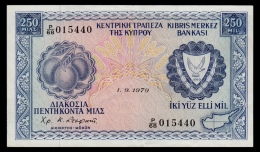 Cyprus 250 Mils 1979 XF - Cyprus