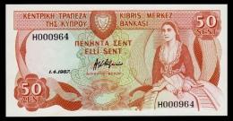 Cyprus 50 Cents 1987 UNC - Chypre