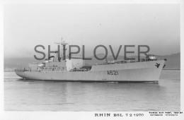 BSL RHIN (Marine Nationale) - Carte Photo Marius Bar - Bateau/ship/schiff - Dampfer