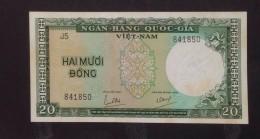 South Vietnam Viet Nam 20 Dong AU Tone Banknote 1964 - P#16 / 02 Images - Vietnam