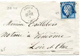 DREUX Eure Et Loire CONVOYEUR STATION Ligne 205 Dreux à Paris + Etoile Pleine Sur 25c Céres.......    G - Postmark Collection (Covers)
