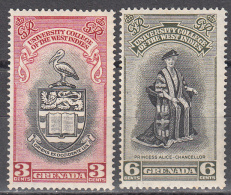 Grenada    Scott No.  164-65   Unused Hinged     Year  1951 - Grenada (...-1974)